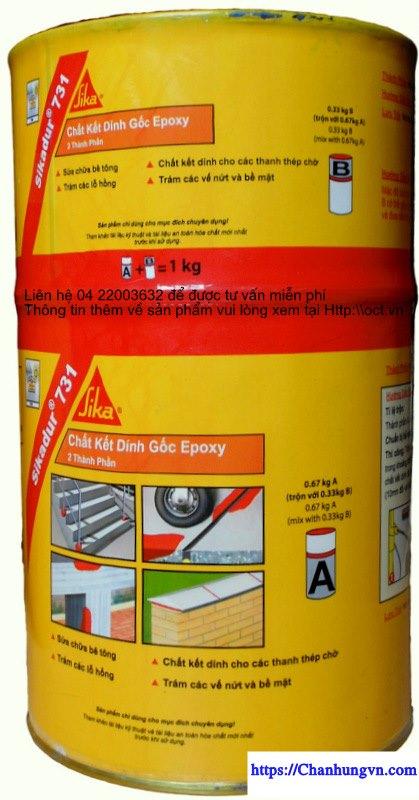 Sikadur 731 Chất kết dính gốc nhựa Epoxy hai thành phần