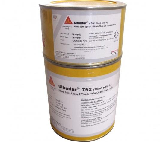 keo bơm xử lý nứt kết cấu bê tông sikadur 752