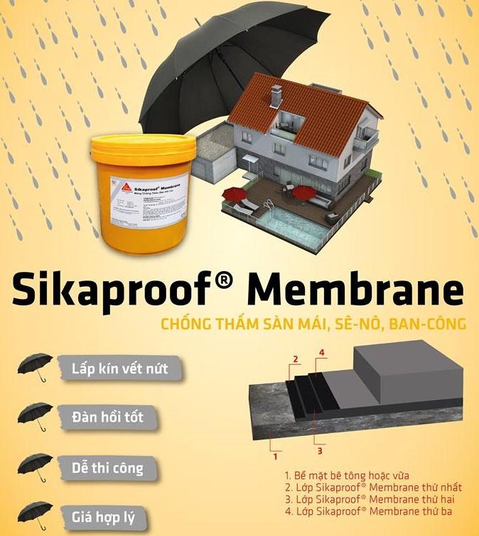 sikaproof membrane chống thấm bitum đàn hồi