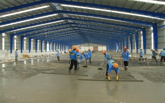 thi công sàn bê tông tại Hải Dương