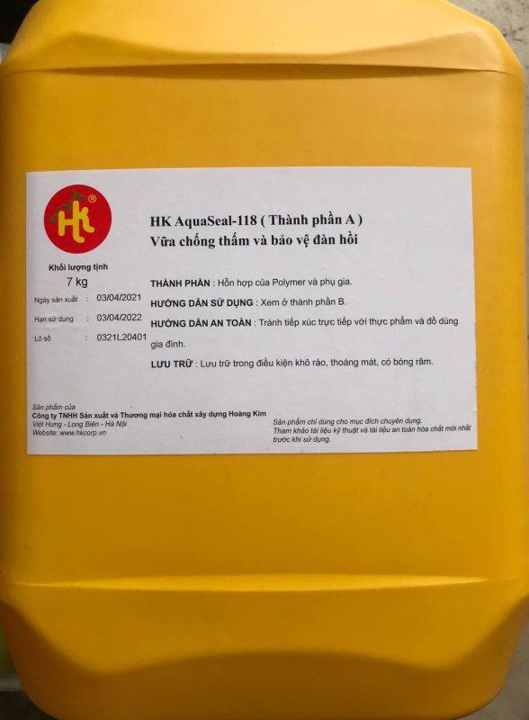 HK AQUASEAL - 118 VỮA CHỐNG THẤM VÀ BẢO VỆ ĐÀN HỒI